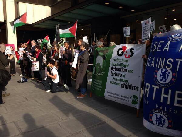 Occupation of reception at G4S