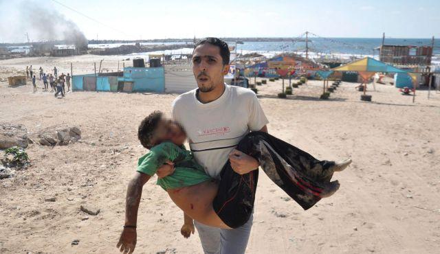 Gaza child i of 4 killed 16 July 2014