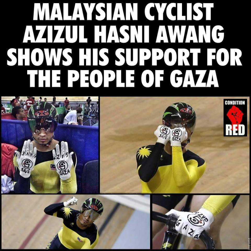 Malasian Cyclist for Palestine